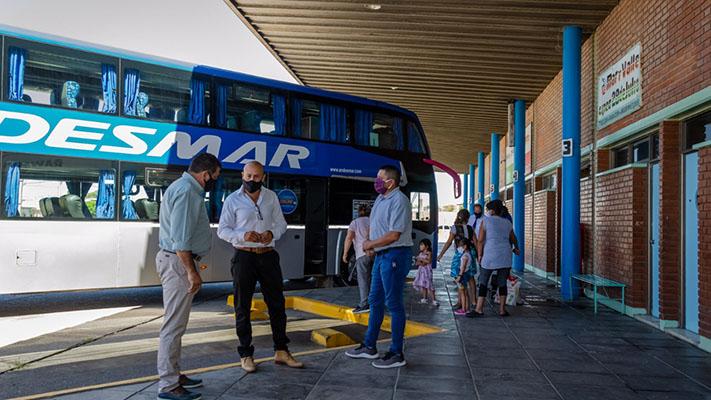 La CNRT inspeccionó el estado de la terminal de ómnibus de Rawson