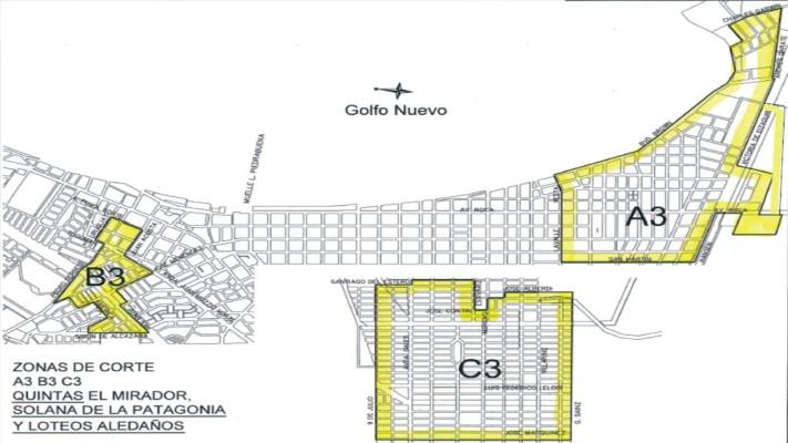 Plan Verano en Madryn: Corte de agua para la Zona 3