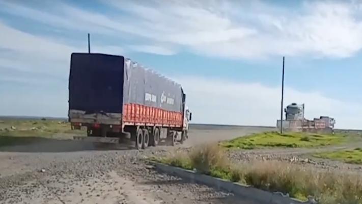 Intenso tráfico de camiones por la Ruta Provincial 1