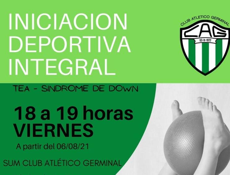 En el Club Germinal, continúa la apuesta al deporte inclusivo