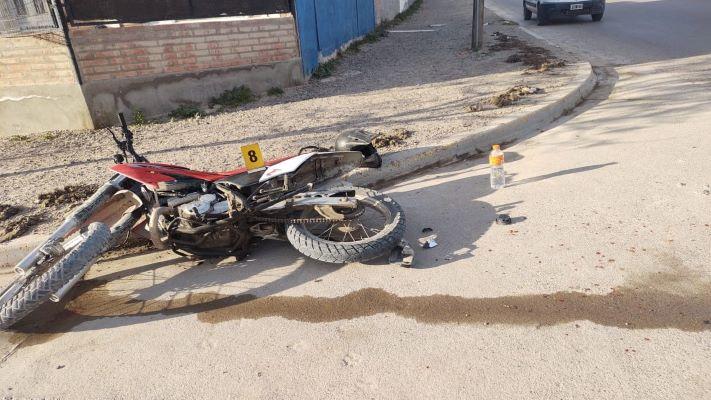 Madryn: Un motociclista herido en un choque
